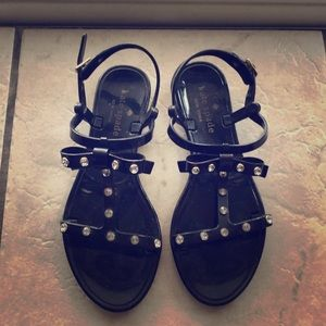 Black Kate Spade Jelly Sandals with Bow!